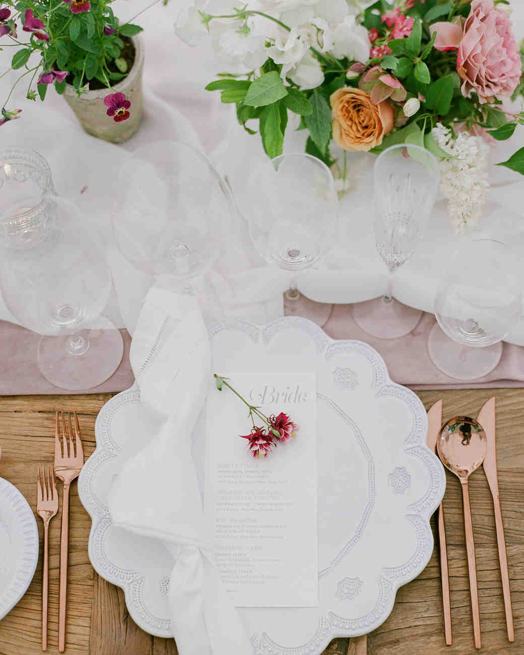 nadine dan wedding place setting