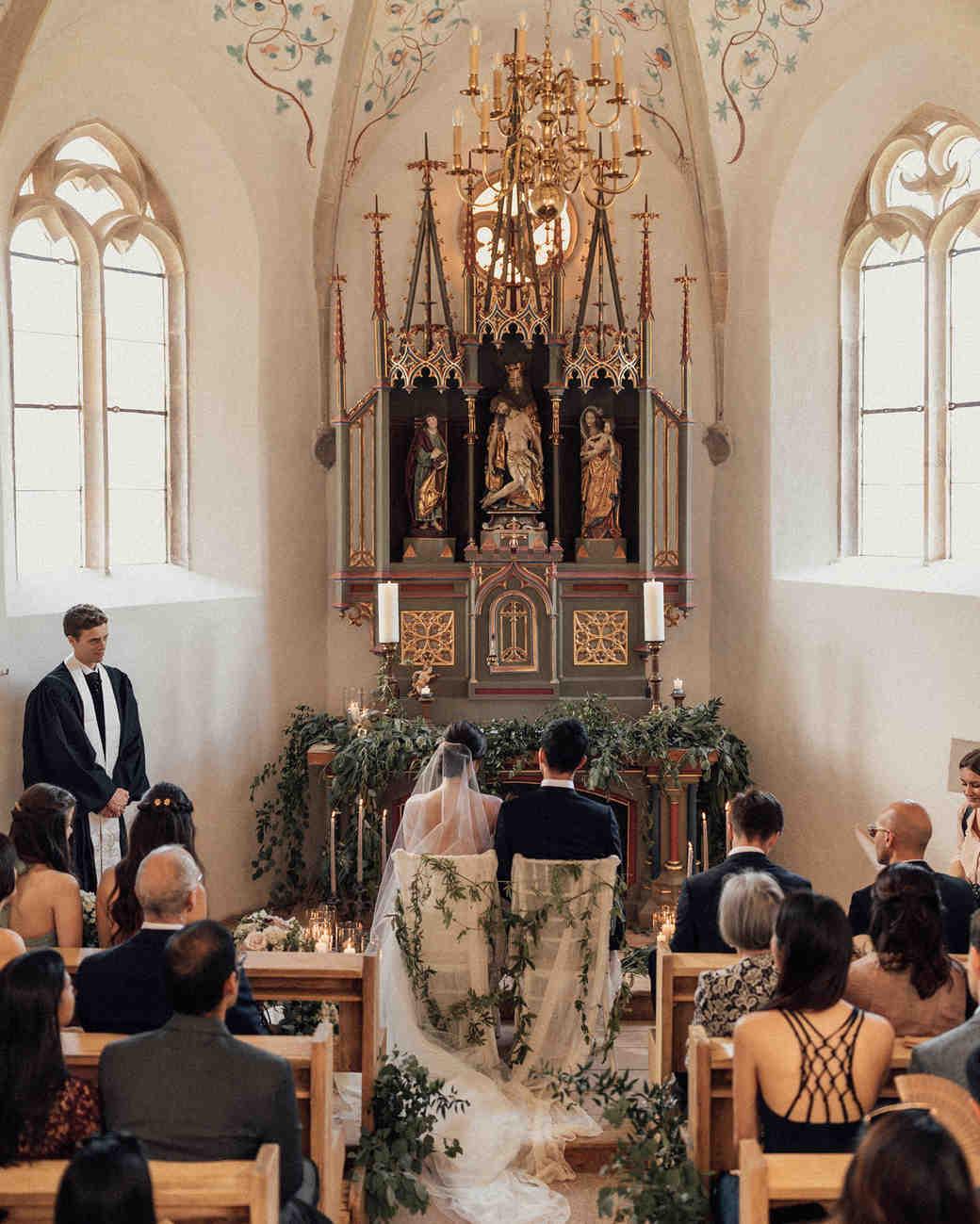 natalie paul wedding ceremony chapel couple