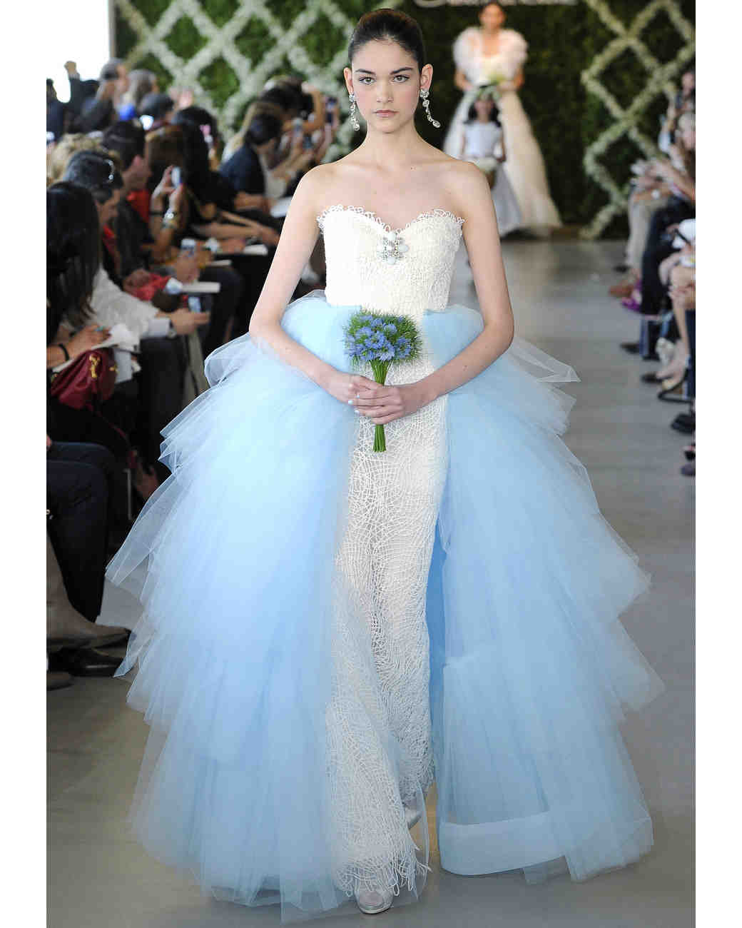 Blue Wedding Dresses Spring 2017 Bridal Fashion Week Martha Weddings