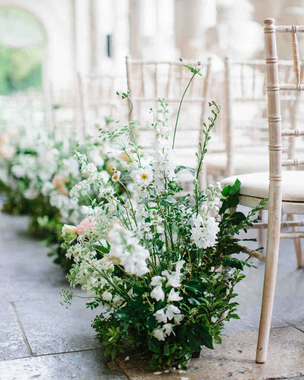 Trending Now Wedding Ceremony Aisles Lined With Potted