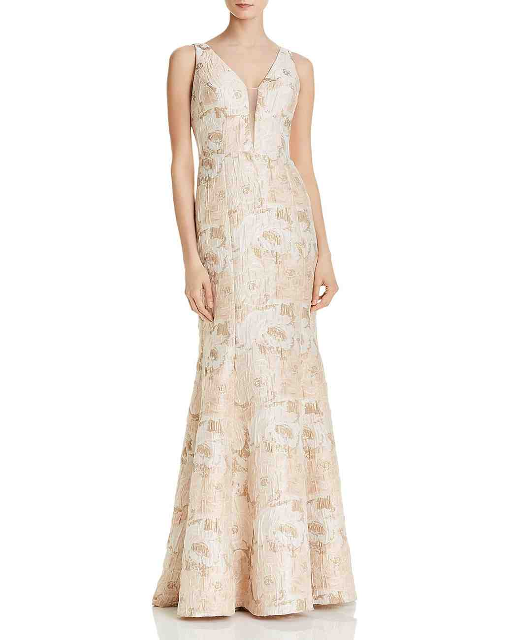 Aidan Mattox Printed Mother of the Bride Dress