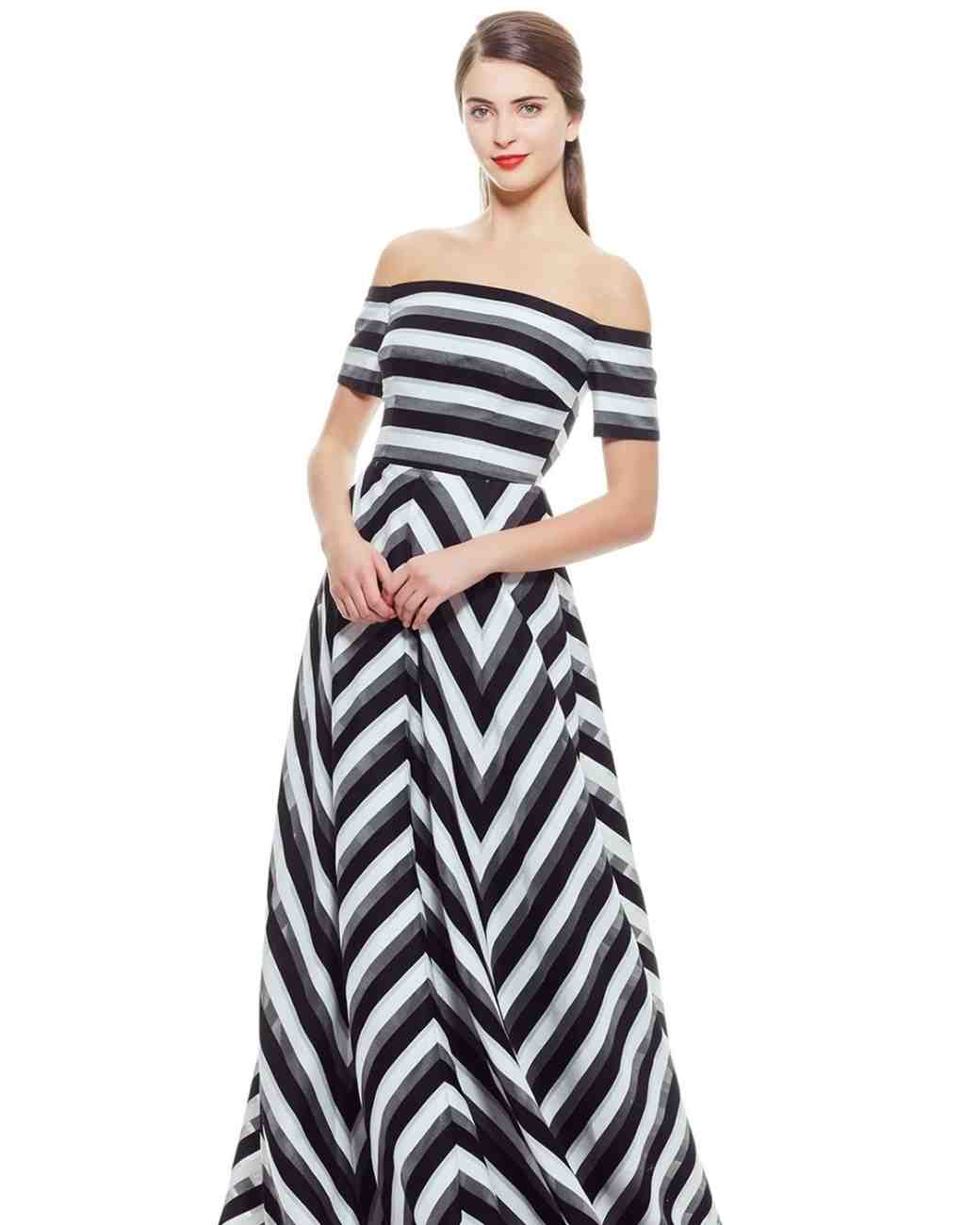 Black and White Lela Rose Mother of the Bride Dress