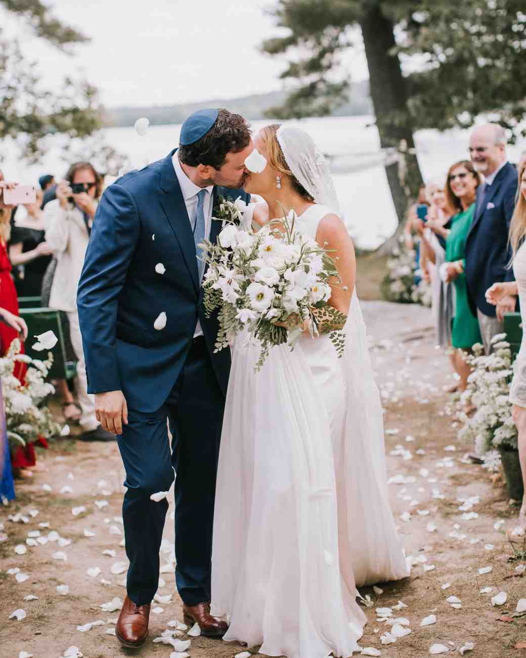 sofi ben camp wedding recessional kiss