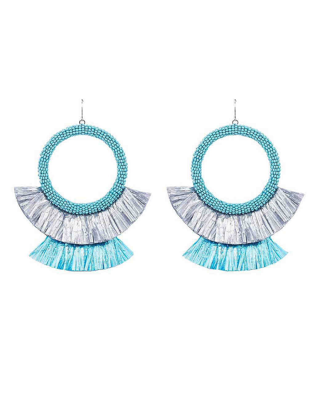 hoop tassel earrings