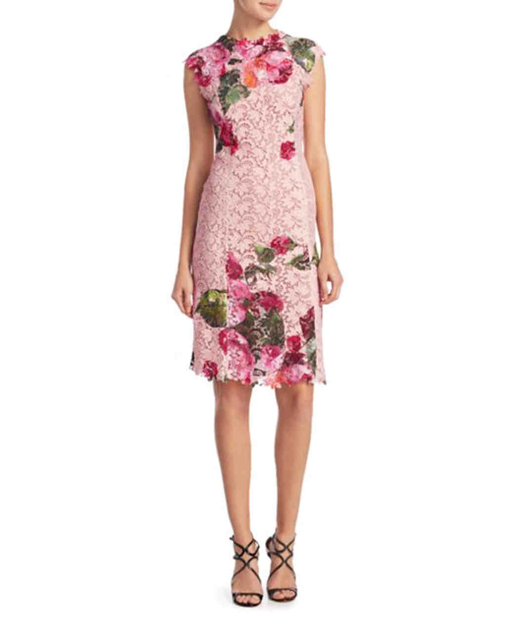 Monique Lhuillier floral-print dress
