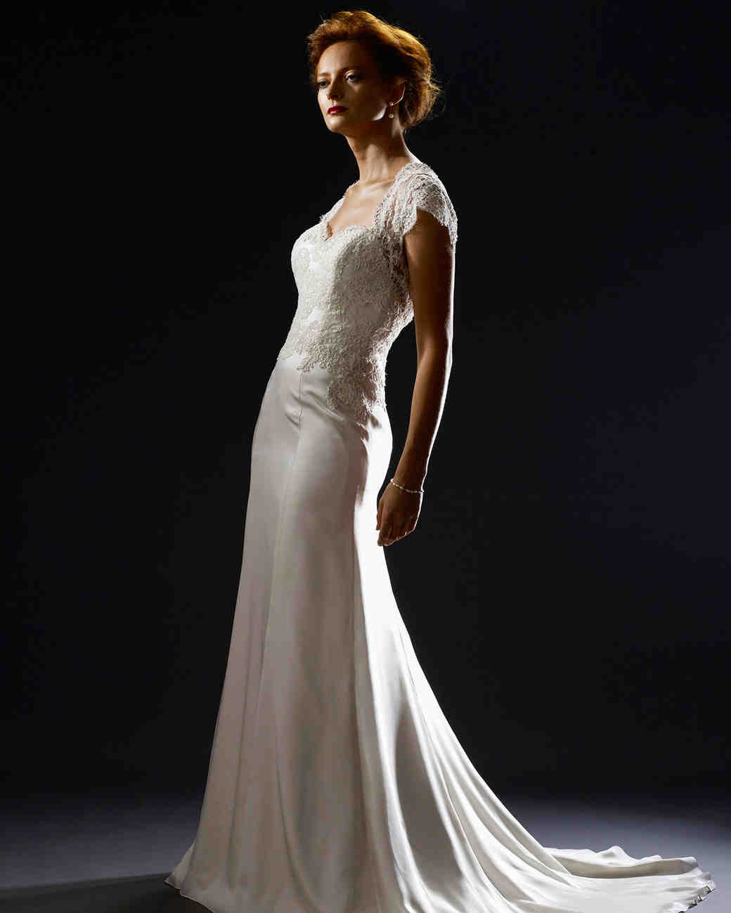 steven birnbaum fall 2019 cap sleeve trumpet wedding dress