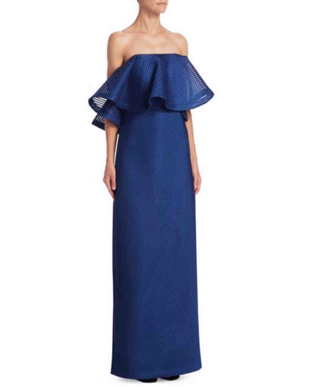 blue flutter gown