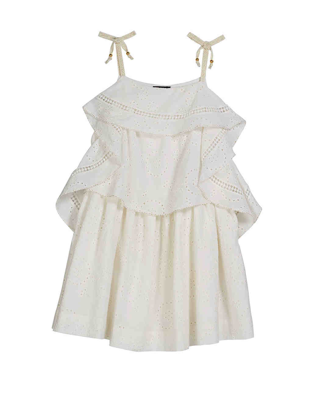 summer flower girl outfit white frills dress
