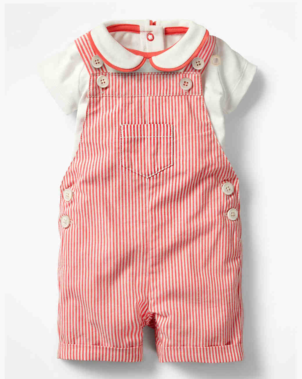 Summer Ring Bearer Attire, Red Overall Set Boden