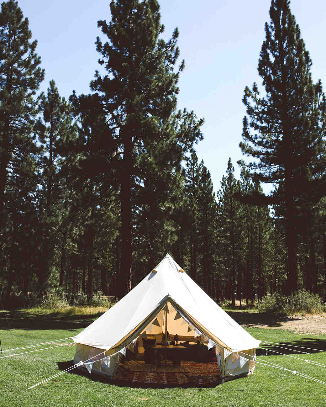 backyard diy circle tent with decorations