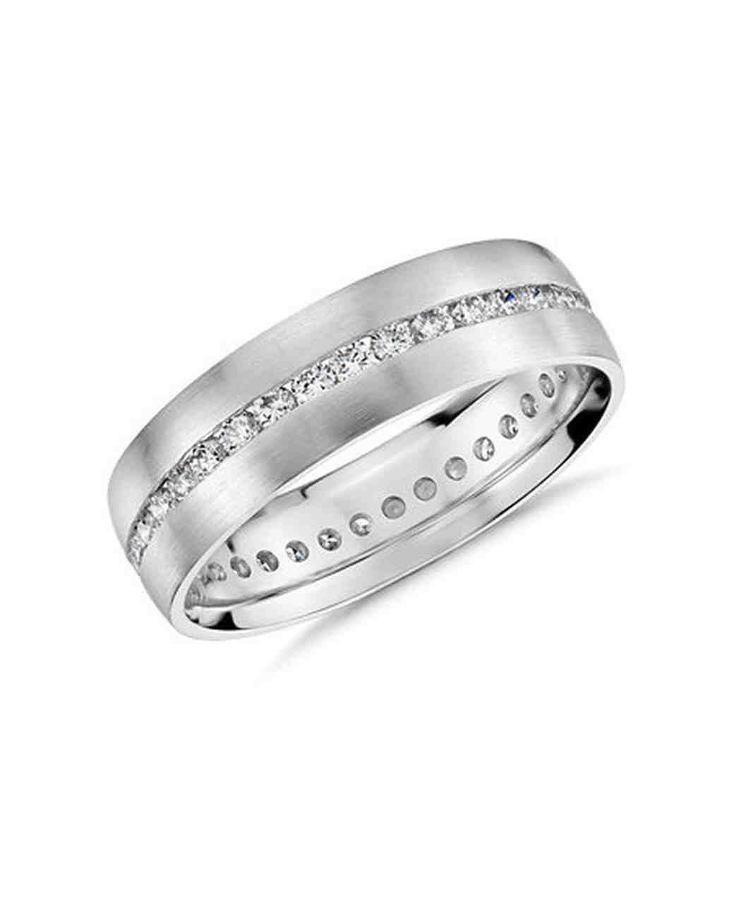 silver wedding band diamonds