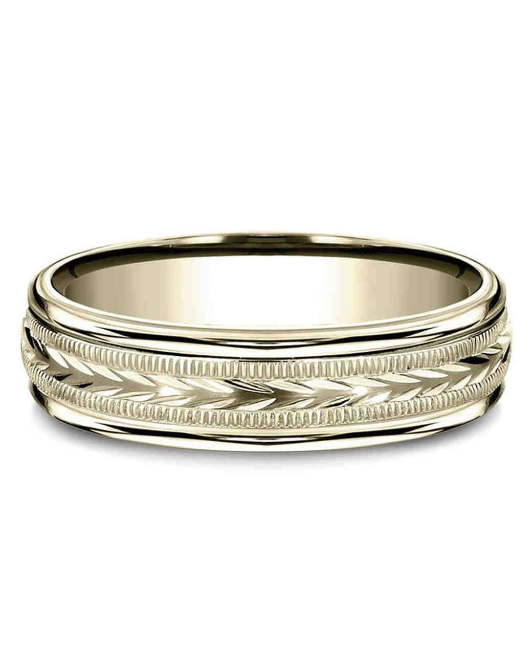 gold textured wedding band