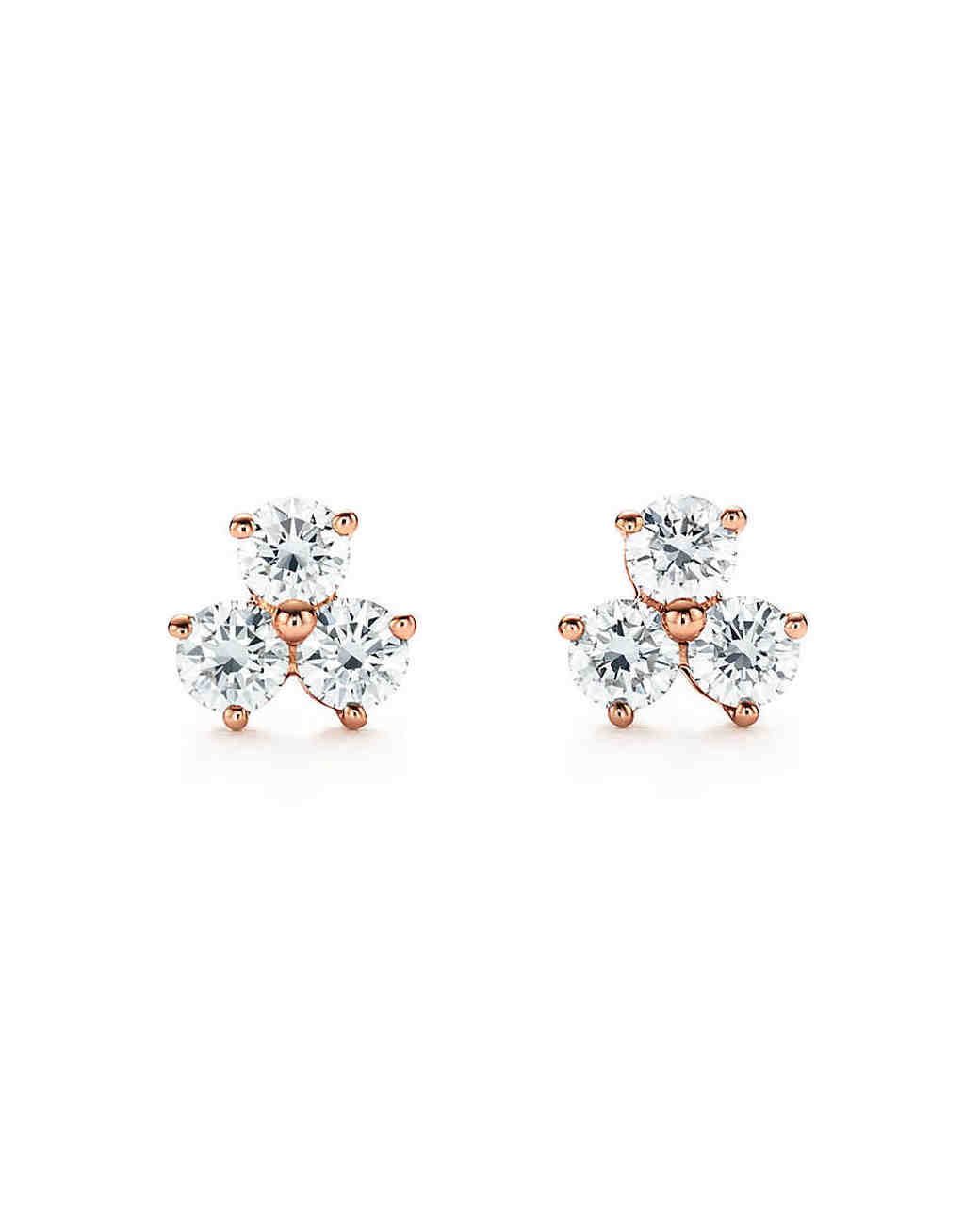 """Wedding Earrings for Every Bride, Tiffany and Co. """"Aria"""" Diamond Cluster Earrings"""