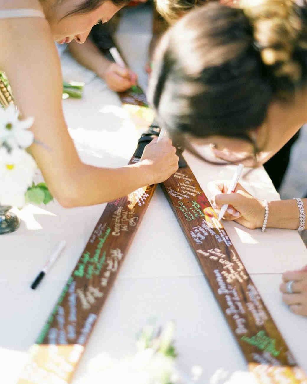 Ideas For A Fun Wedding: Unique Wedding Guest Book Ideas That Aren't Actually Books