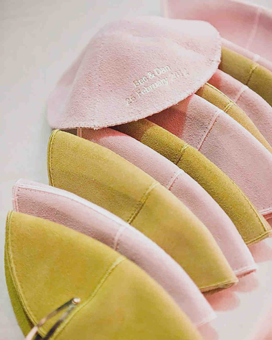 pink and yellow kippot yarmulkes