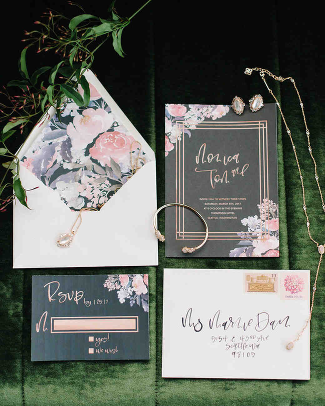 gorgeous floral wedding invitations martha stewart weddings