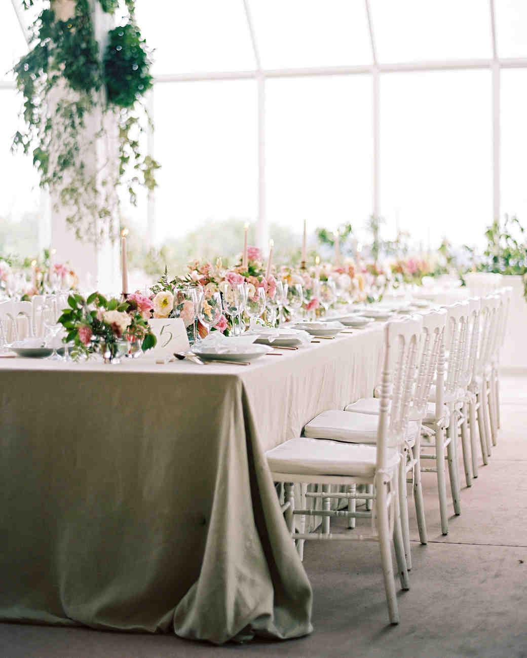 amanda alex wedding reception banquet table