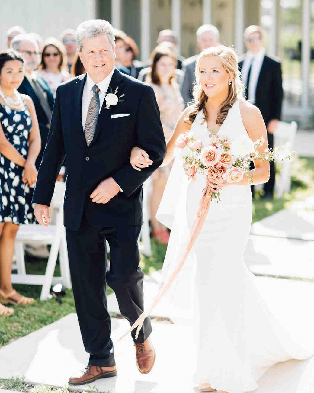 amanda chuck wedding processional bride and father