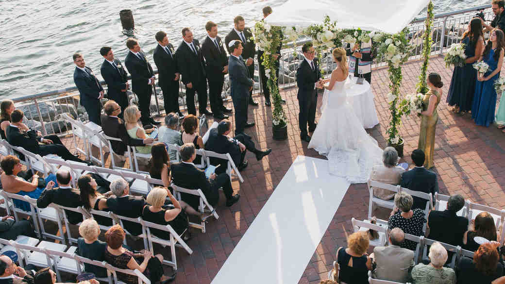 ceremony on the water in Brooklyn