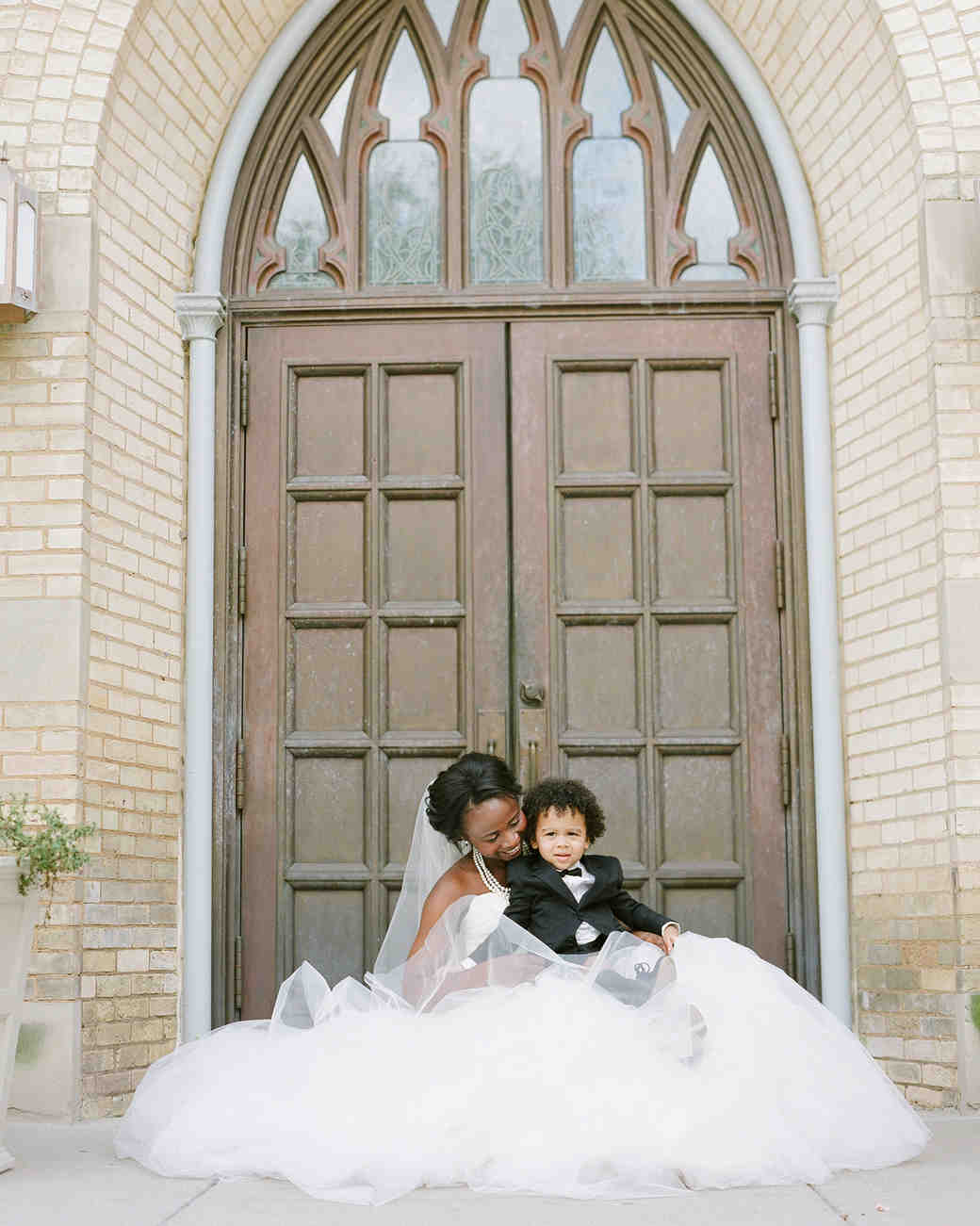 anwuli patrick wedding ring bearer and bride