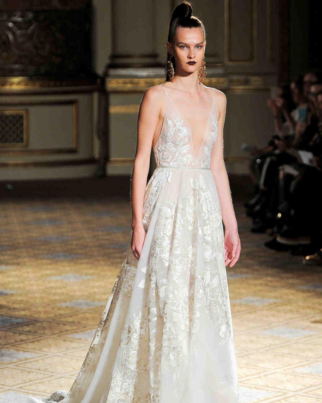 berta v-neck a-line wedding dress spring 2018
