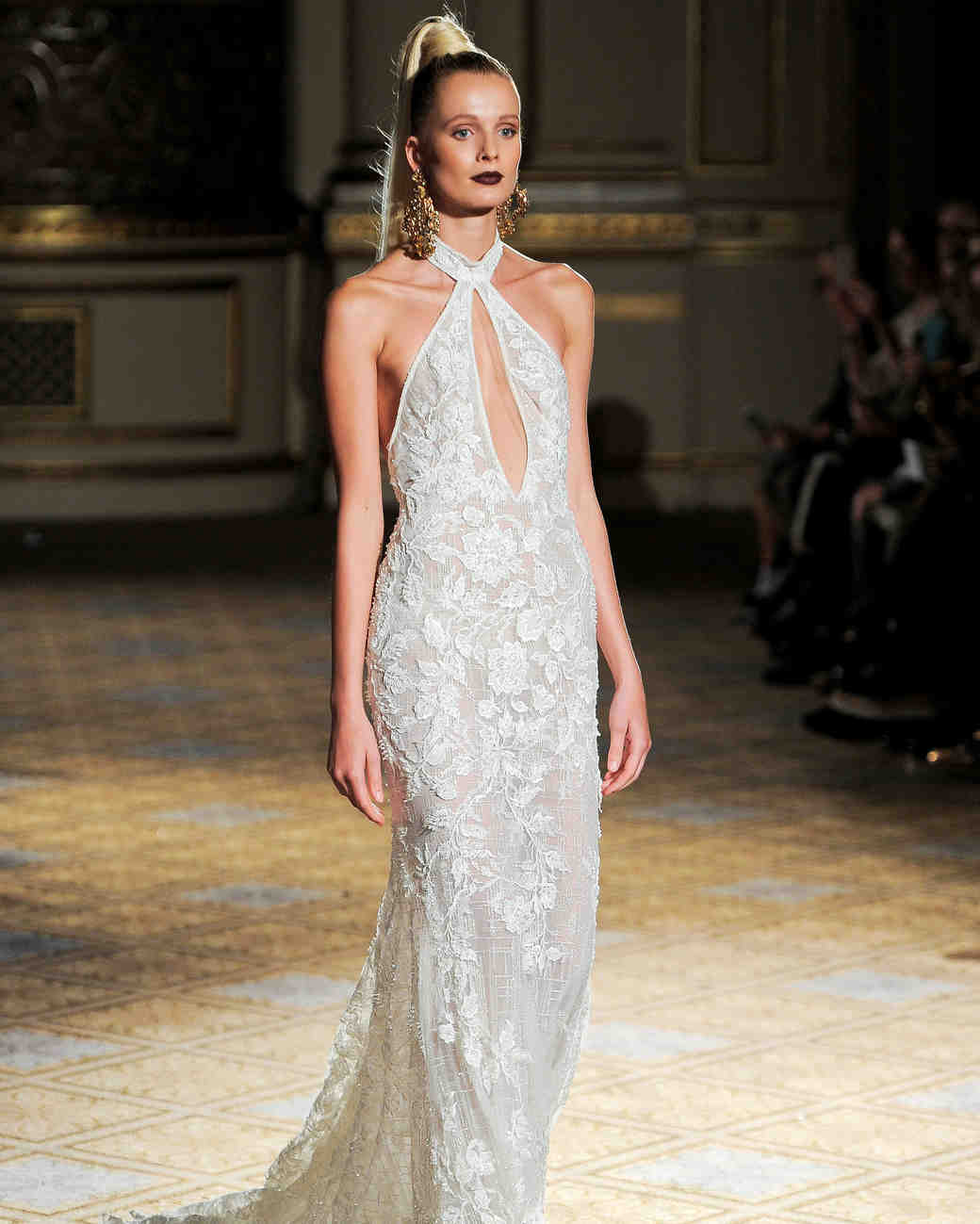 berta key-hole halter wedding dress spring 2018