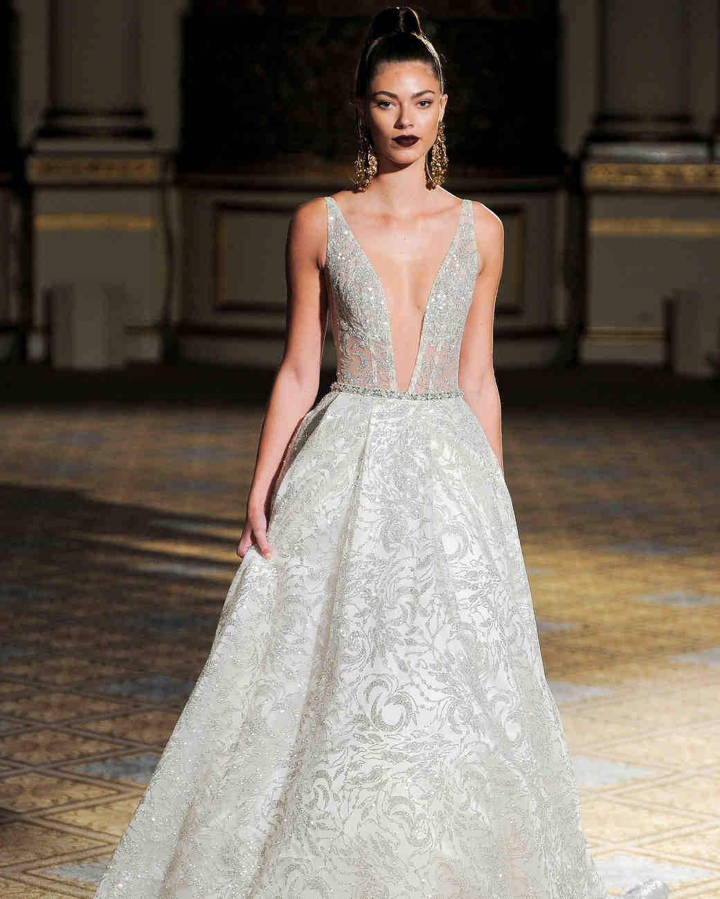 berta beaded sparkly a-line wedding dress spring 2018