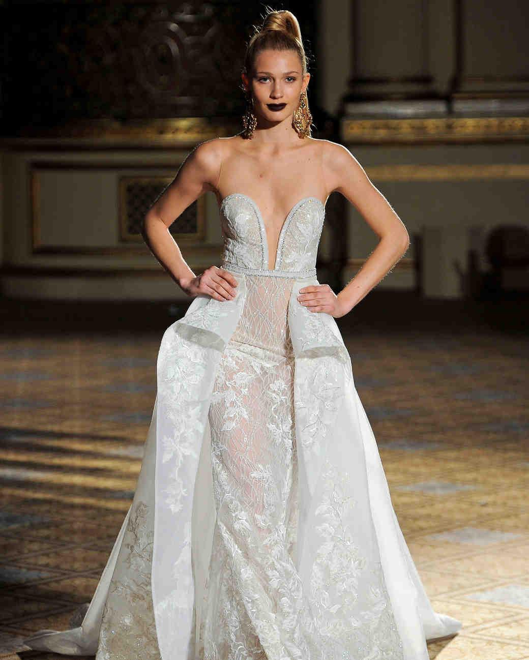 berta sheer a-line wedding dress spring 2018