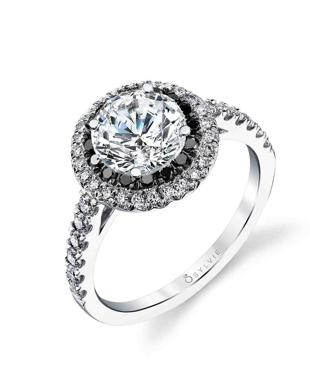 The New LBD: The Little Black Diamond Engagement Ring | Martha Stewart  Weddings