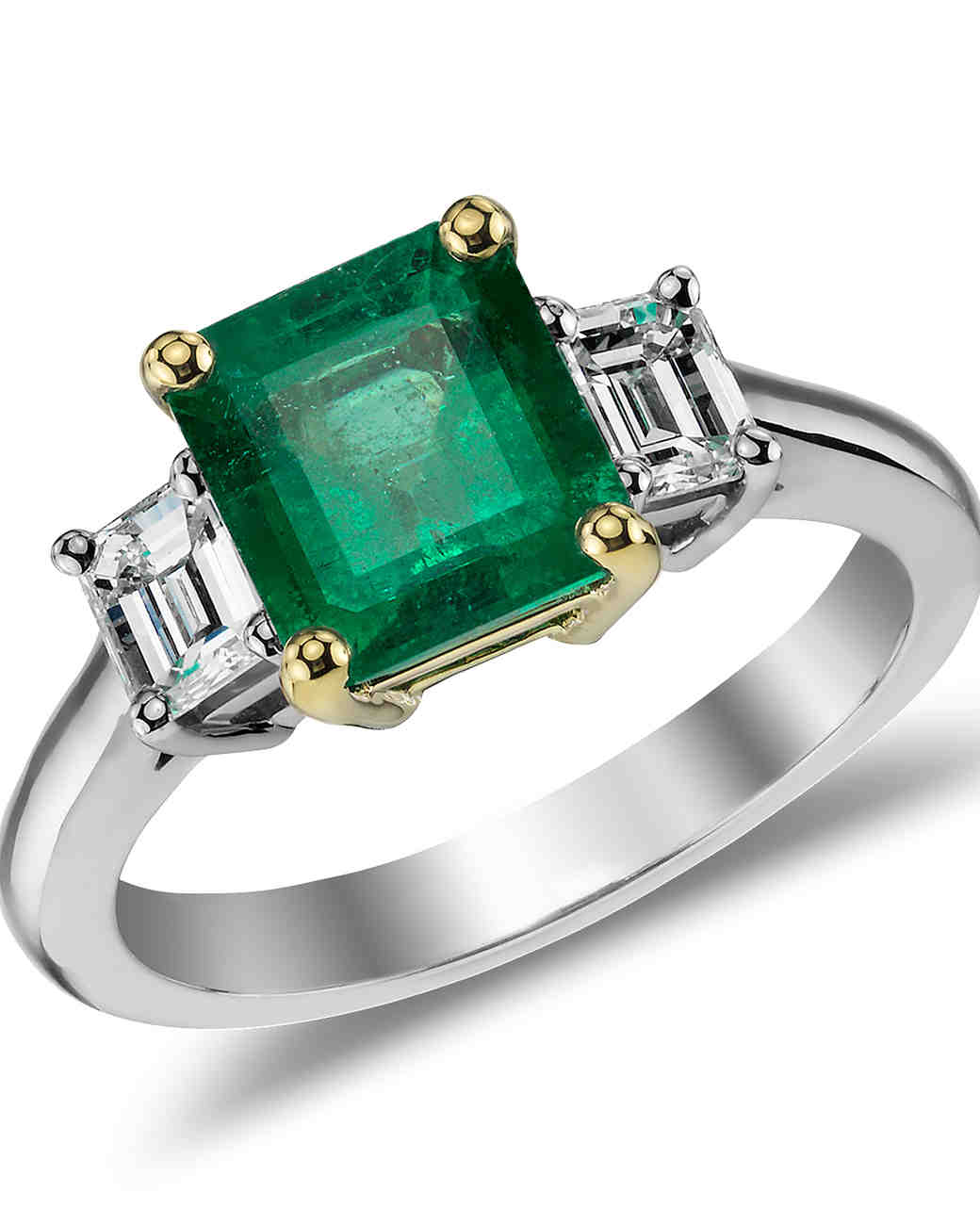 Emerald Engagement Rings For A Oneofakind Bride Martha Stewart Weddings: Green Lantern Emerald Wedding Band Set At Websimilar.org