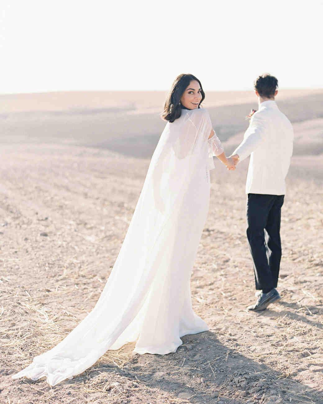 semi-sheer bridal cape