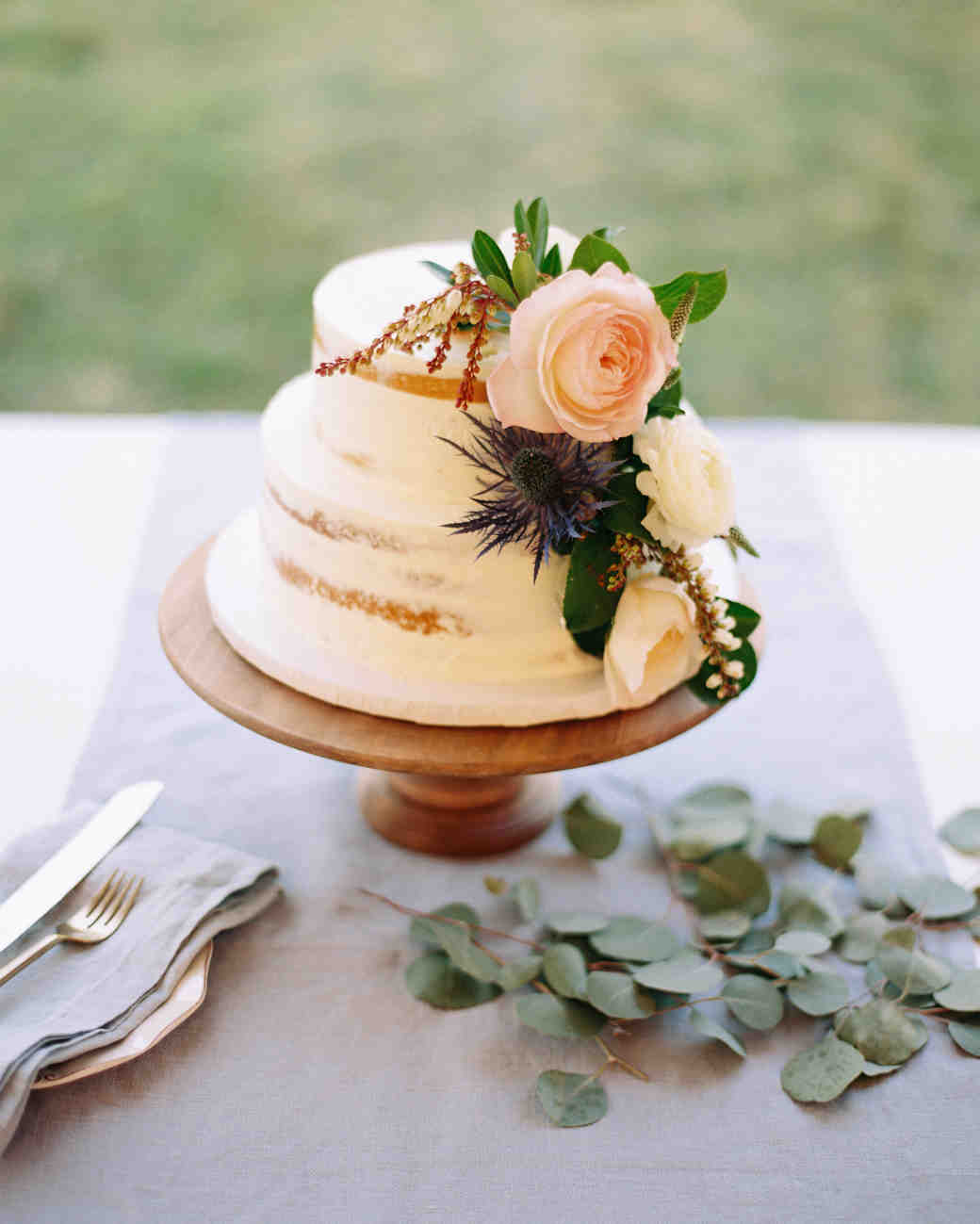 love is simple bridal shower cake
