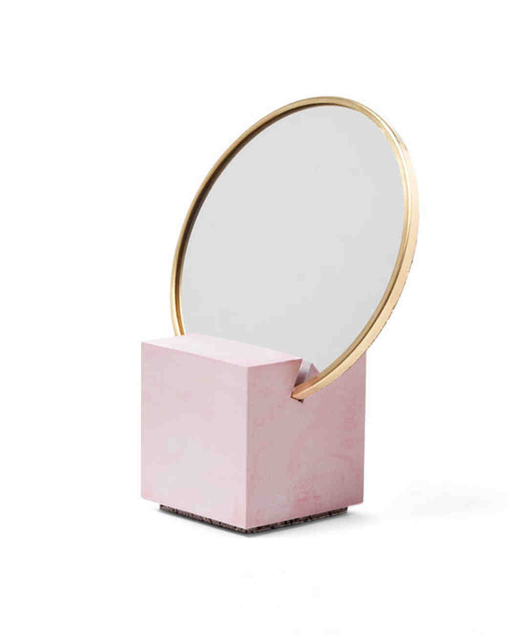 bride gift guide slash objects pink mirror