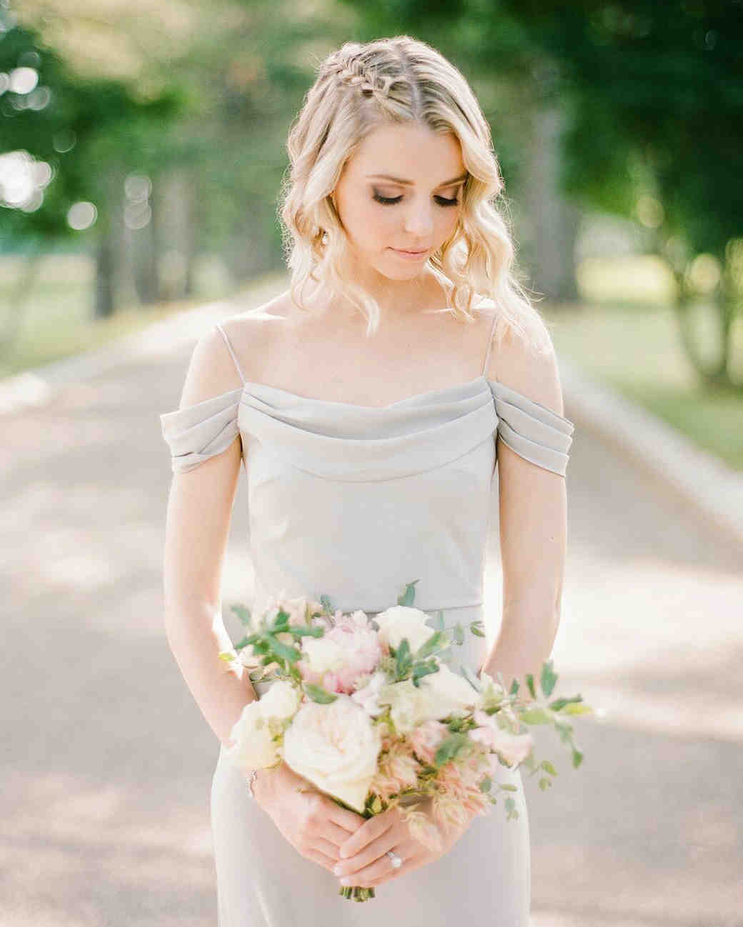 One Shoulder Wedding Dress Hairstyles. Sweetheart Strapless With One ...