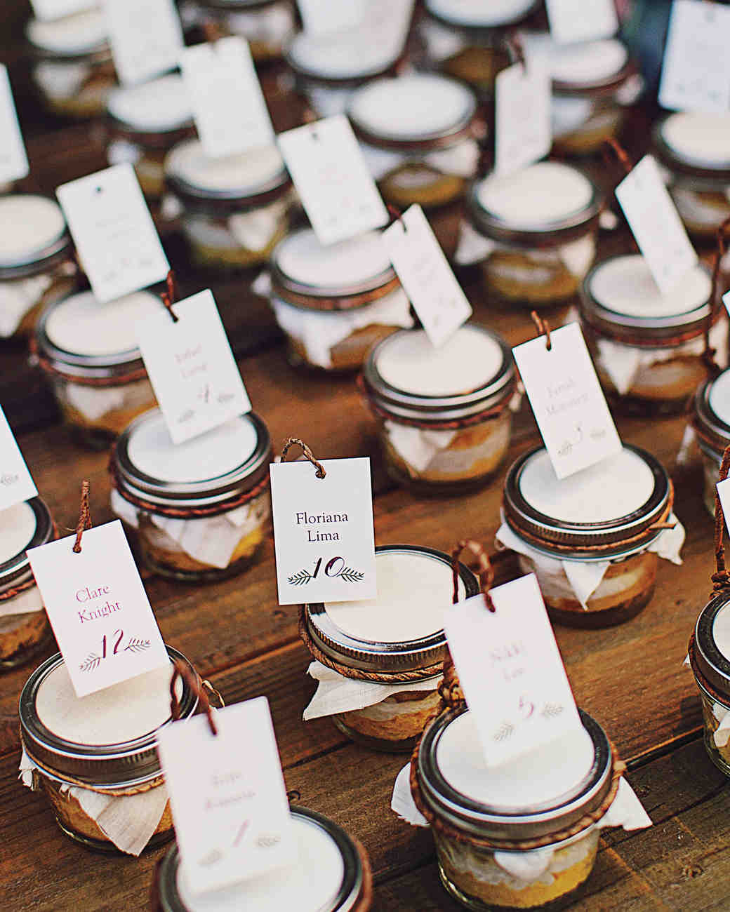 Cake Jar Escort Cards