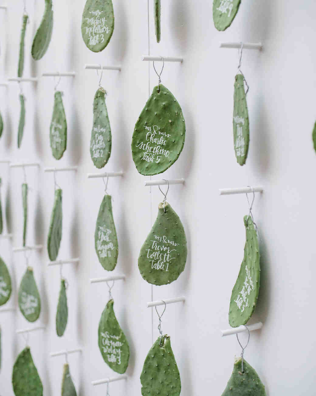 Hanging Cactus Escort Cards