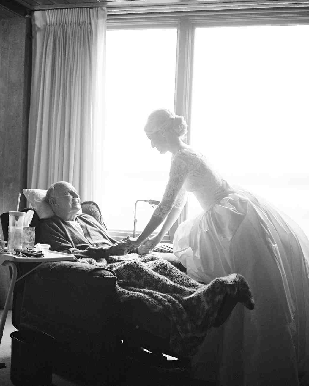 Bride Visiting Grandfather