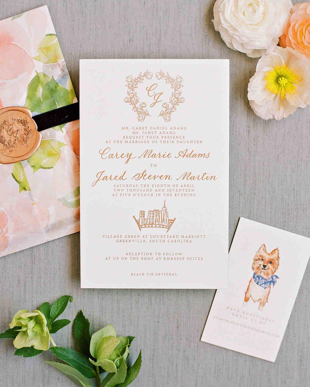 Carey Jared Wedding Invite Formal: Unique Wedding Invitations Spring At Reisefeber.org