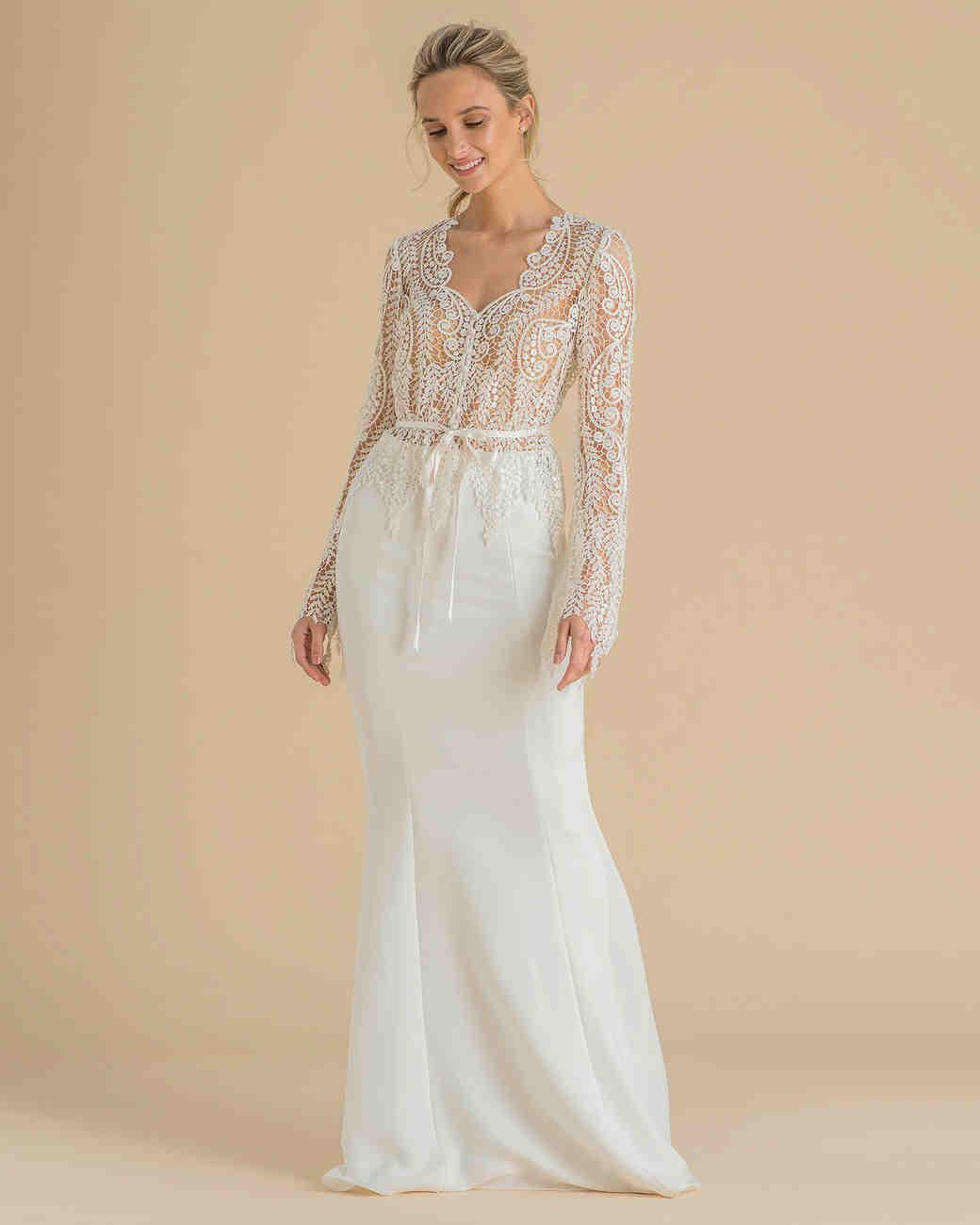 bb9e3afc5d4d Catherine Deane Spring 2019 Wedding Dress Collection | Martha Stewart  Weddings