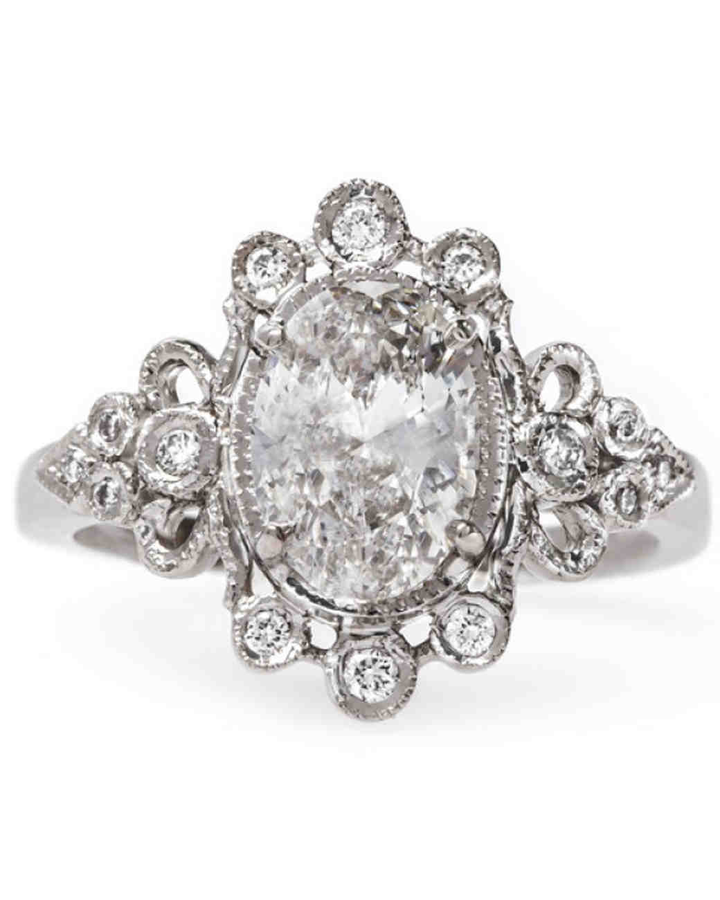 Claire Pettibone Oval Engagement Ring