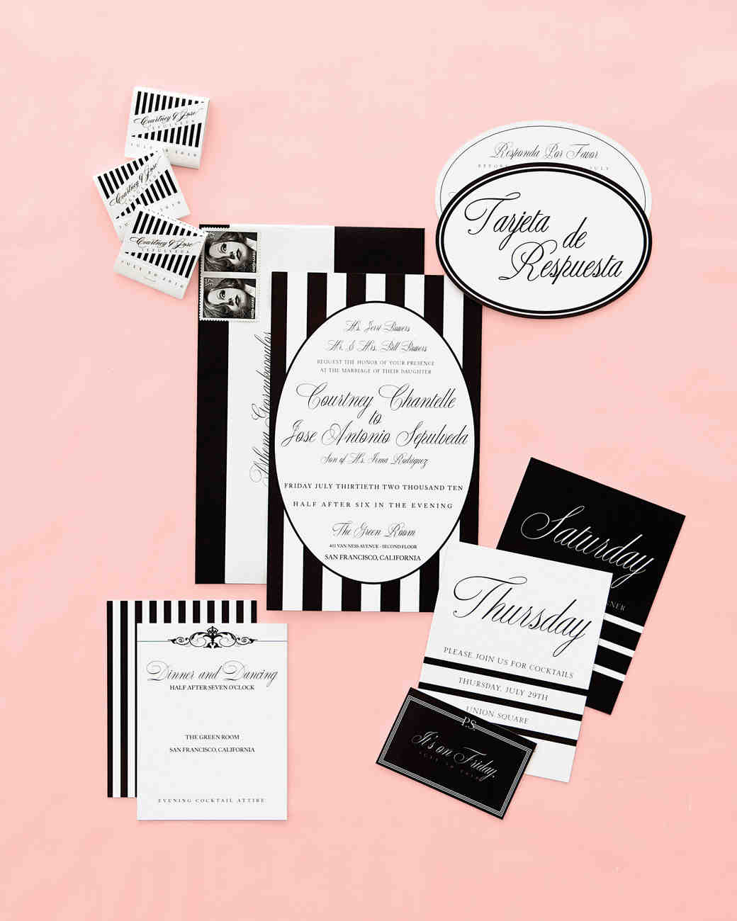 A Retro-Inspired Black-and-White Wedding in San Francisco | Martha ...