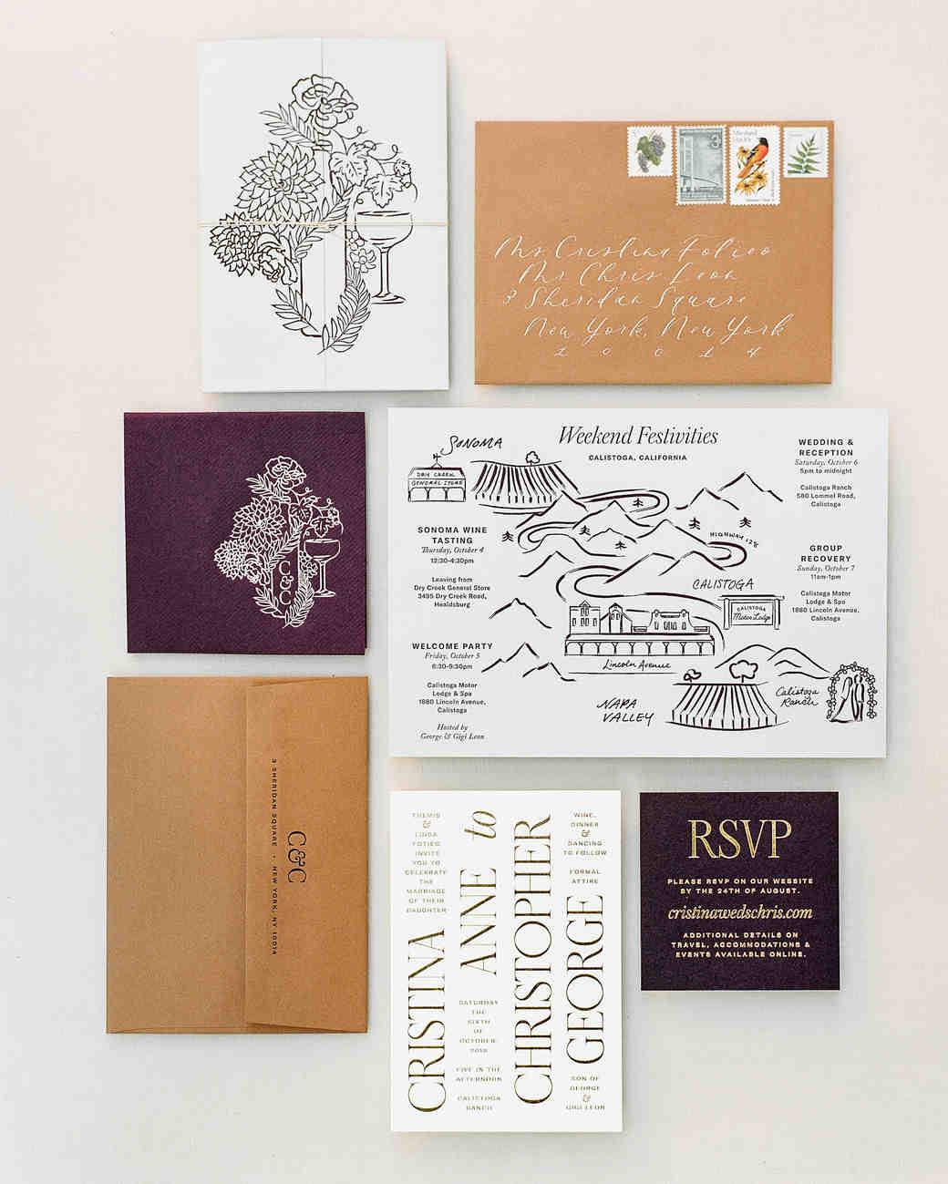 cristina chris wedding stationery suite