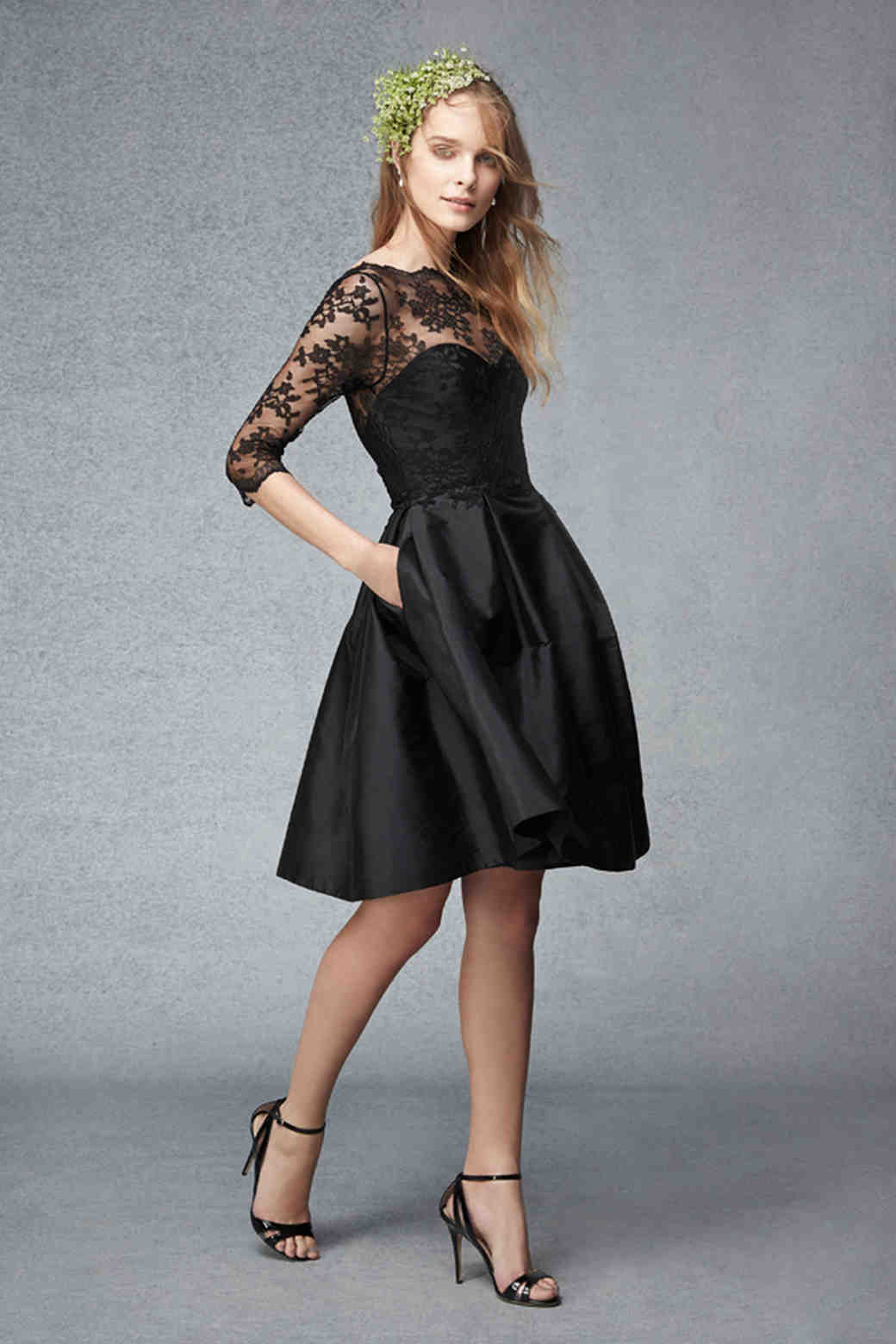 Black Short Wedding Dress