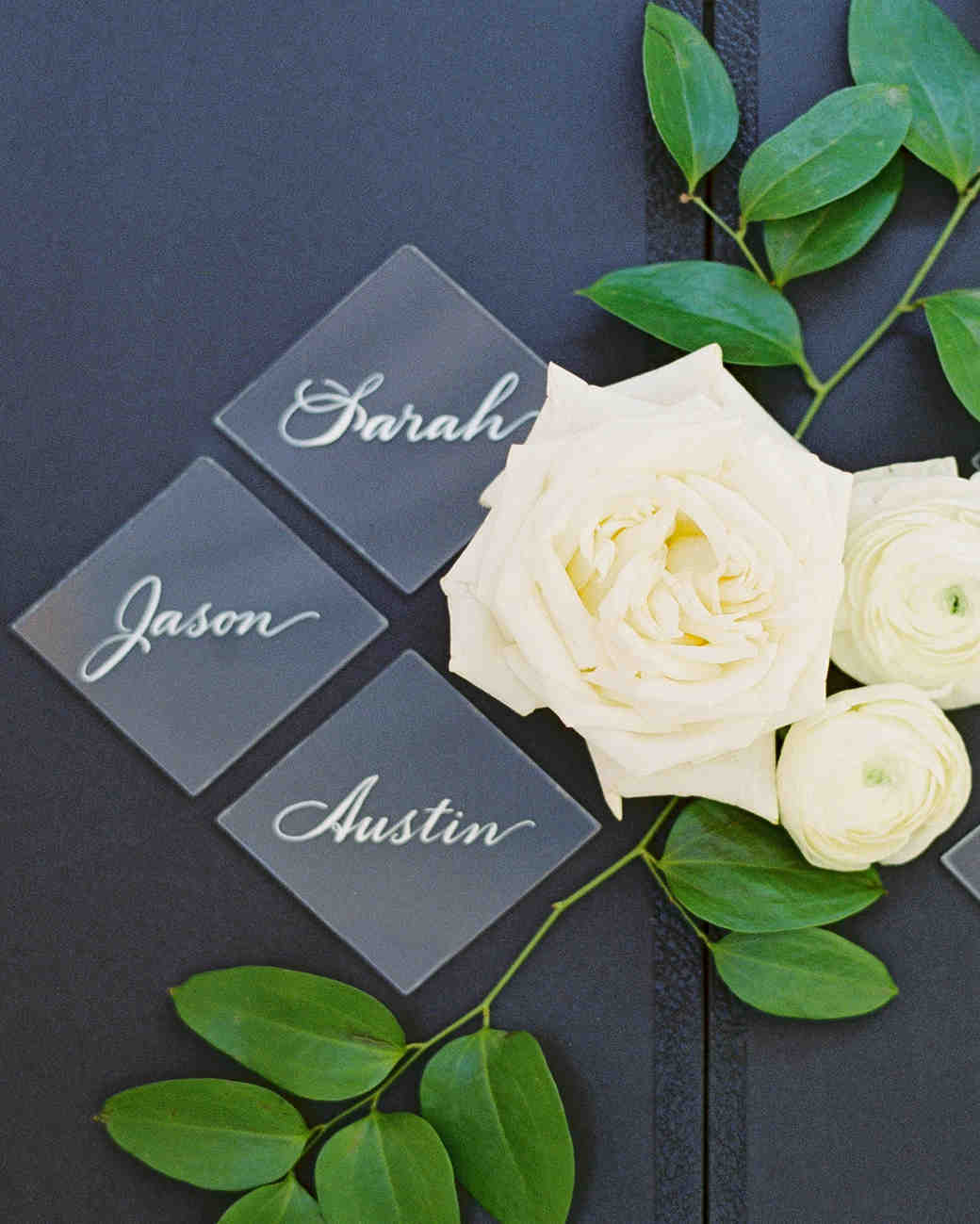 Elizabeth and Robert wedding escort cards