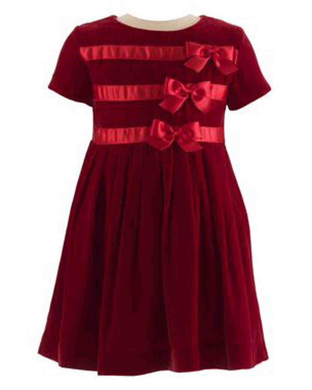 red bows flower girl dress