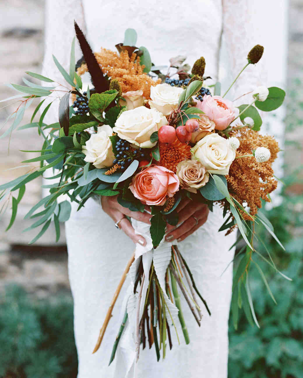 rustic wedding flower arrangements 52 gorgeous fall wedding bouquets martha stewart weddings 7215