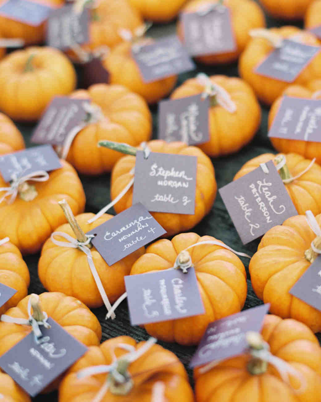 33 pumpkin ideas for fall weddings martha stewart weddings pumpkin wedding favors junglespirit Gallery