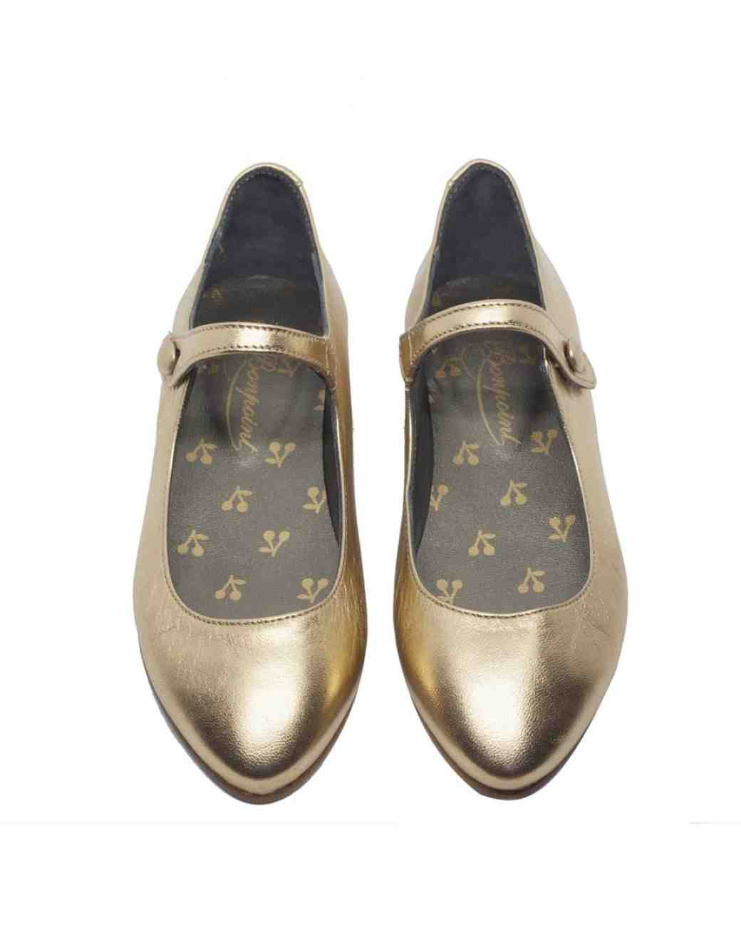 flower girls shoes bonpoint gold