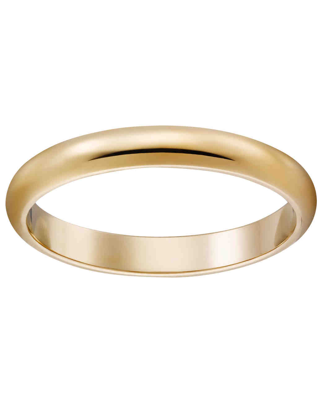 Clic Gold Wedding Bands For Every Type Of Bride Martha Weddings