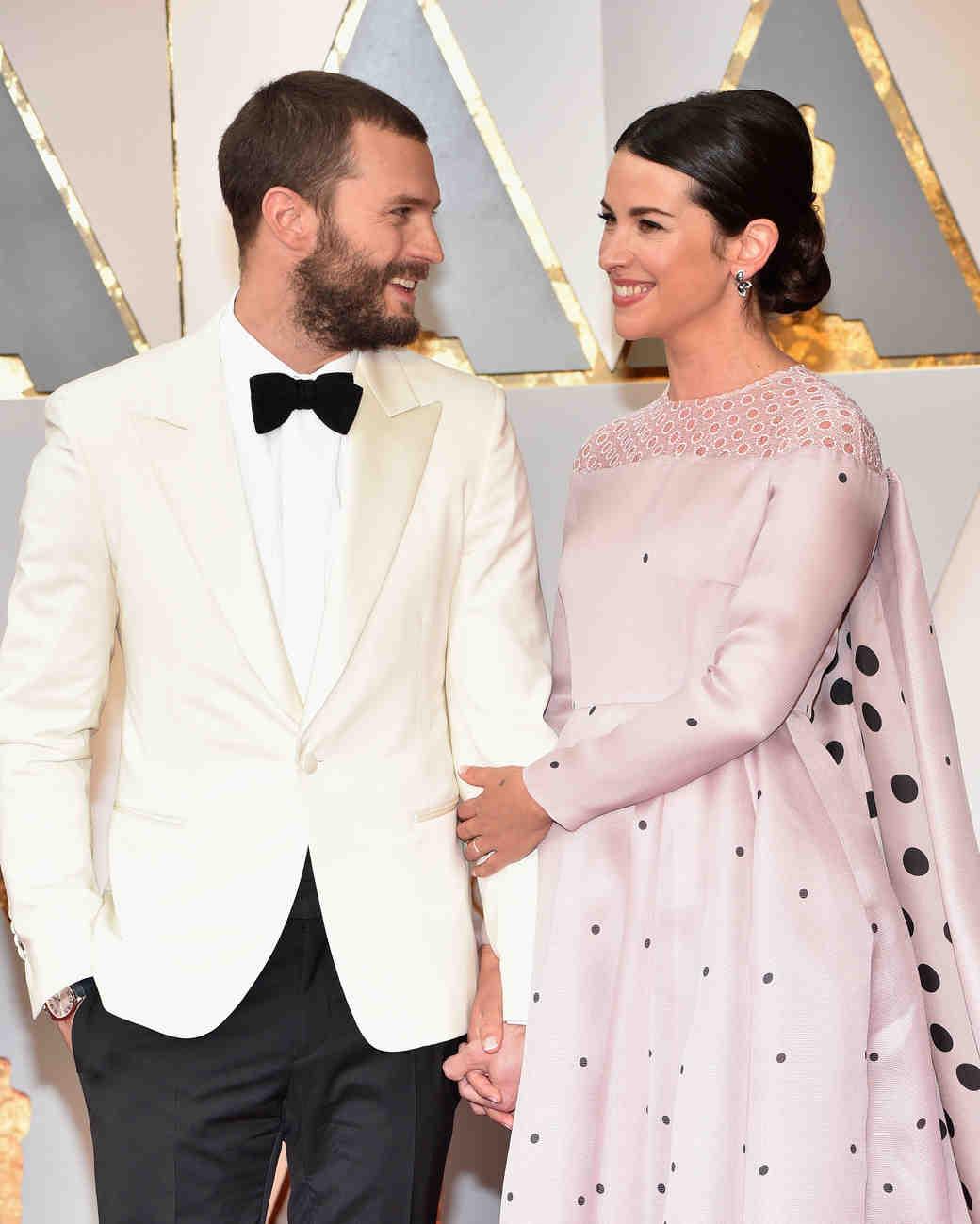 Jamie Dornan and Amelia Warner at 2017 Academy Awards